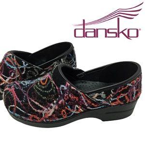 Dansko Wool Clogs Shoes Funky Wool Scribble 41